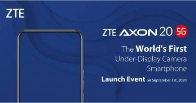 Smartphone: The World's First Under Display Camera Smartphone