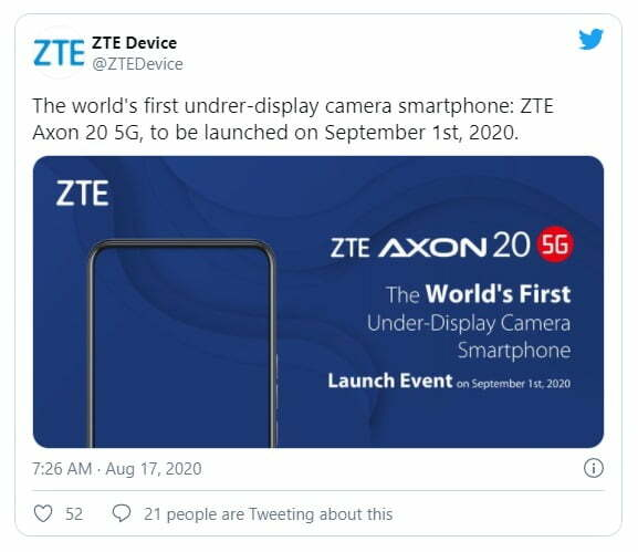 Smartphone: The World's First Under Display Camera Phone